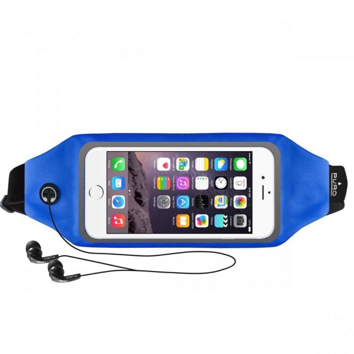 Športové puzdro na opasok PURO s okienkom pre Samsung Galaxy Alpha - G850, Blue