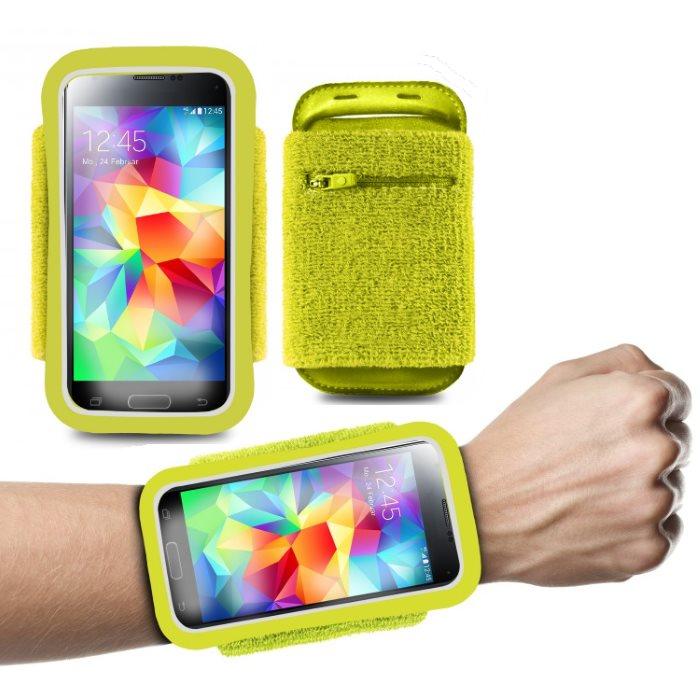 Športové puzdro PURO na zápästie pre GoClever Quantum 450 Lite, Lime