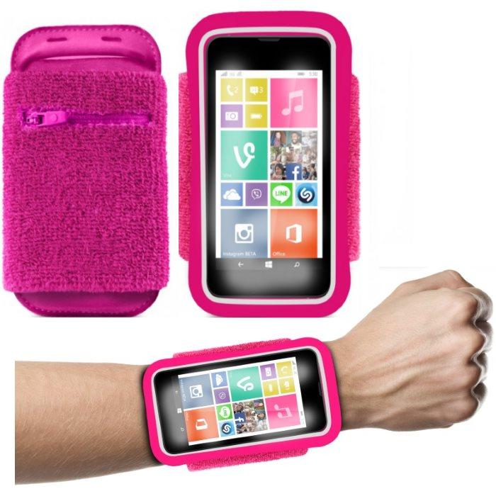 Športové puzdro PURO na zápästie pre LG L65 - D280n, LG L65 - D285, Pink