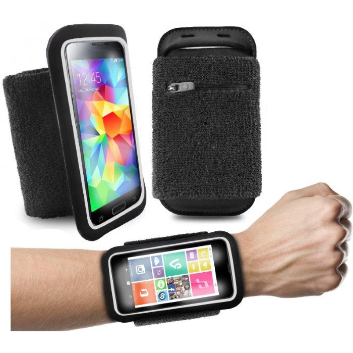 Športové puzdro PURO na zápästie pre Nokia Lumia 730, Nokia Lumia 735, Black
