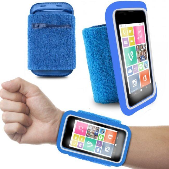 Športové puzdro PURO na zápästie pre Samsung Galaxy Alpha - G850, Blue