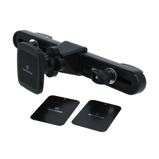 Swissten univerzální magnetický držák pro tablety a telefony S-Grip na opěrku hlavy
