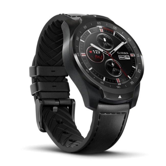 TicWatch Pro, Shadow Black-Smart hodinky