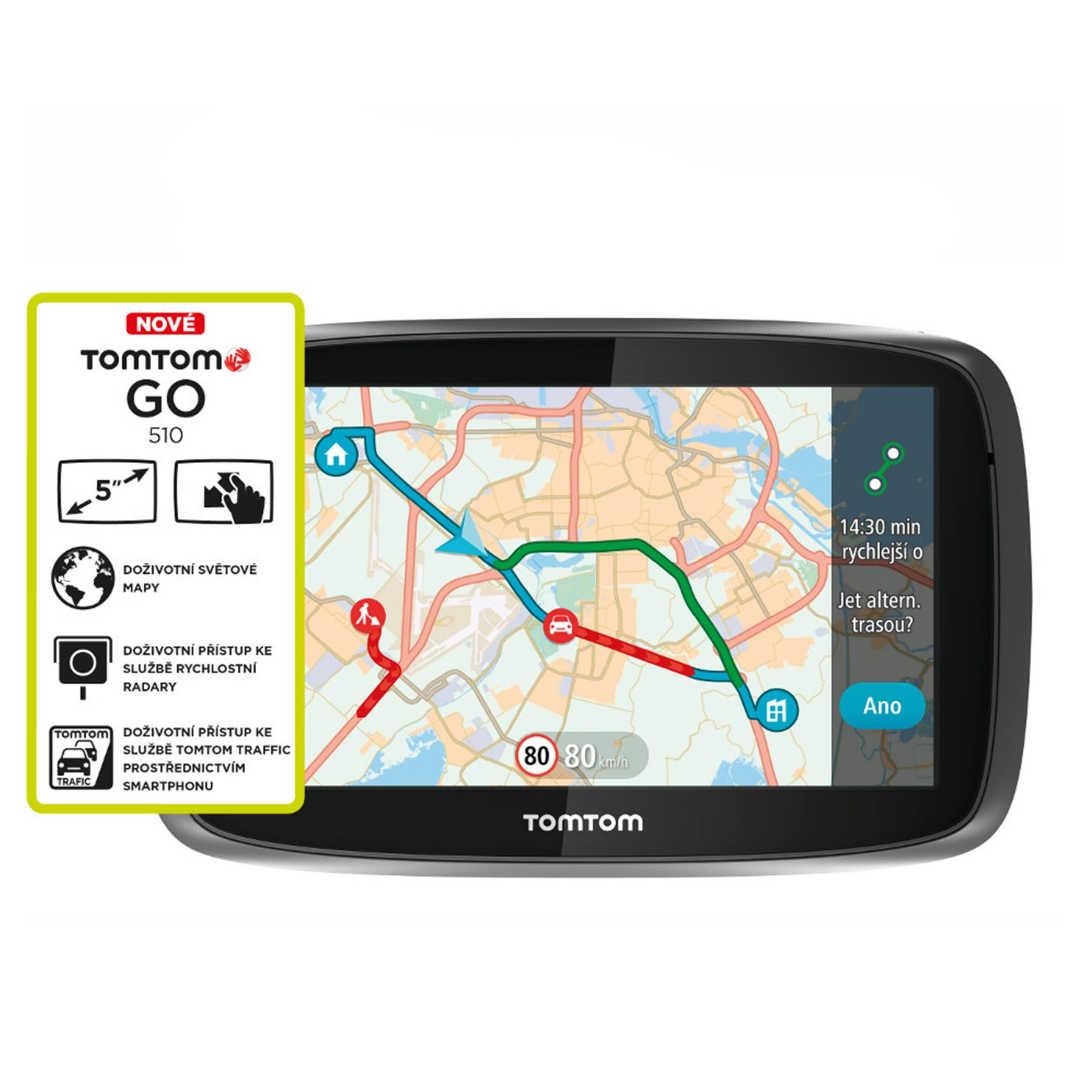 TomTom Go 510 World (Speak & Go) + Mapy 152 zemí Světa + Doživotní aktualizace map