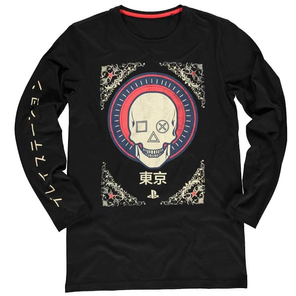 Tričko PlayStation Skull S
