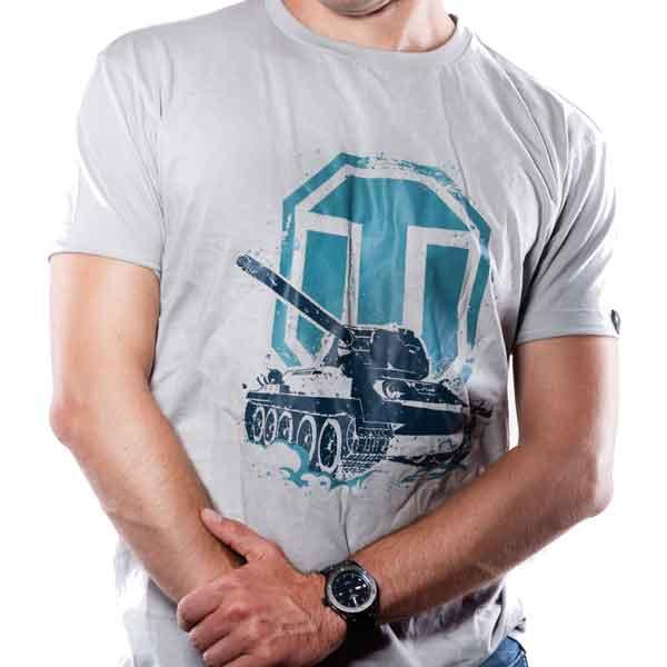 Tričko World of Tanks-Logo světlé XL