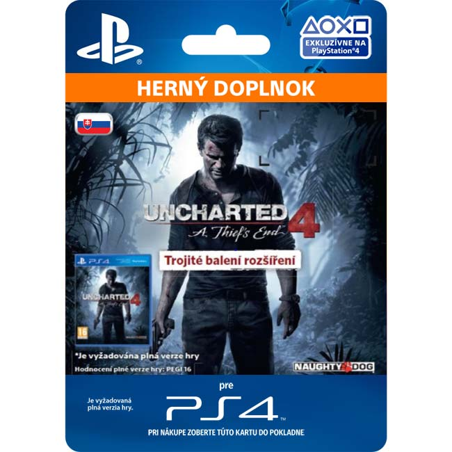 Uncharted 4: A Thief 's End CZ (SK Triple Pack Expansion)