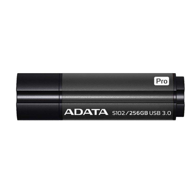 USB klíč A-Data S102 Pro, 256GB, USB 3.1-rychlost 200/120 MB/s, Black (AS102P-256G-RGY)