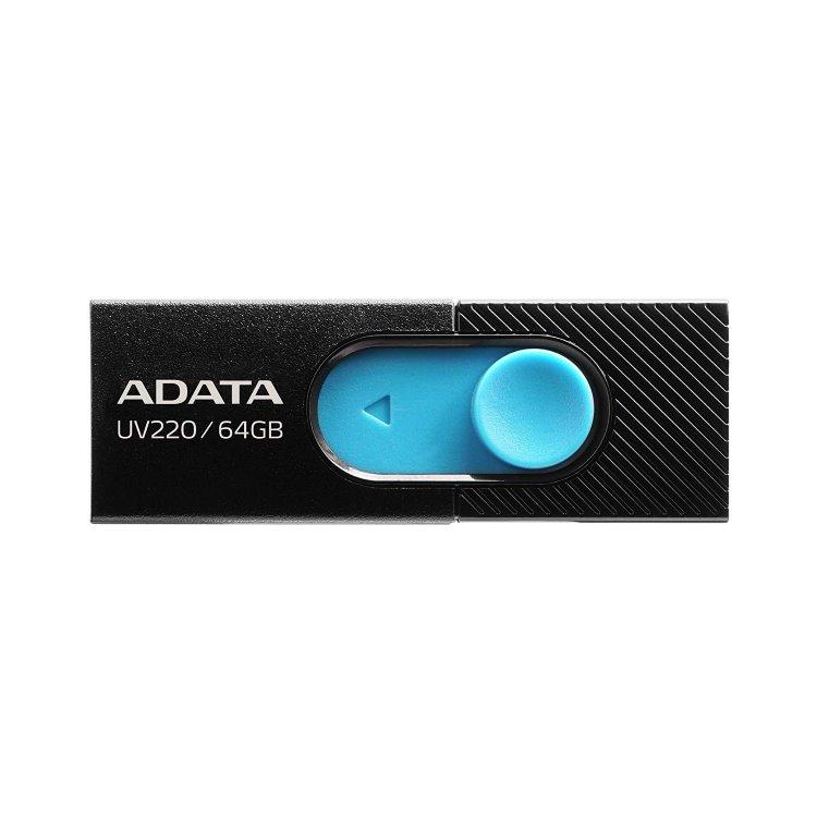 USB klíč A-DATA UV220, 64GB, USB 2.0, Black (AUV220-64G-RBKBL)