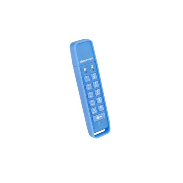 USB klíč datAshur Personal Šifrovaný Flashdisk, 16 GB, USB 2.0, Blue-rychlost čtení 27 MB/s