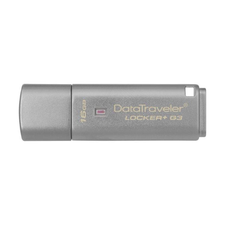 USB klíč Kingston DataTraveler Locker + G3, 16GB, USB 3.0-rychlost 135MB/s (DTLPG3/16GB)