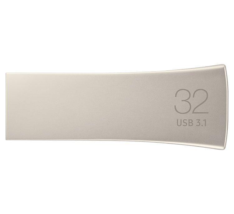 USB klíč Samsung BAR Plus, 32GB, USB 3.1-rychlost 200 MB/s (MUF-32BE3/EU), Silver