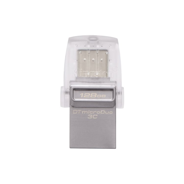 USB OTG Kingston DataTraveler MicroDuo 3C, 128GB, USB/USB-C 3.1-rychlost 100 MB/s (DTDUO3C/128GB)