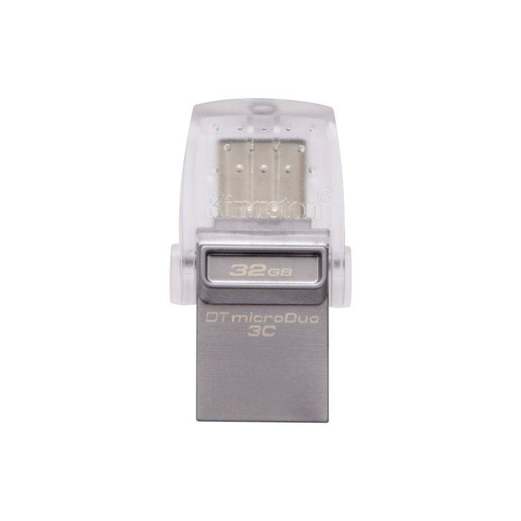 USB OTG Kingston DataTraveler MicroDuo 3C, 32GB, USB/USB-C 3.1-rychlost 100 MB/s (DTDUO3C/32GB)