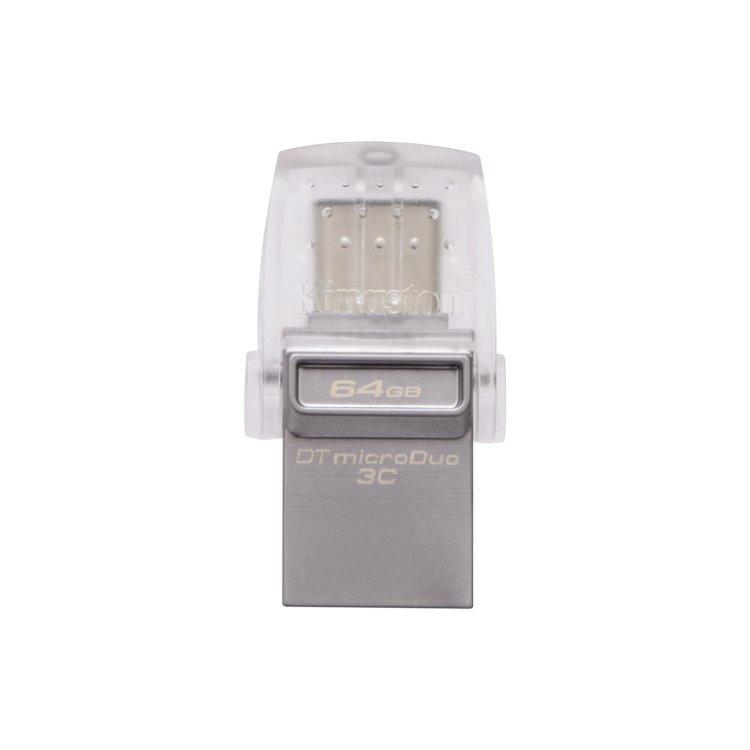 USB OTG Kingston DataTraveler MicroDuo 3C, 64GB, USB/USB-C 3.1-rychlost 100 MB/s (DTDUO3C/64GB)