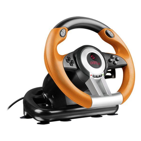 Volant Speedlink Drift O.Z.  Racing Wheel pro PC, černo-oranžový