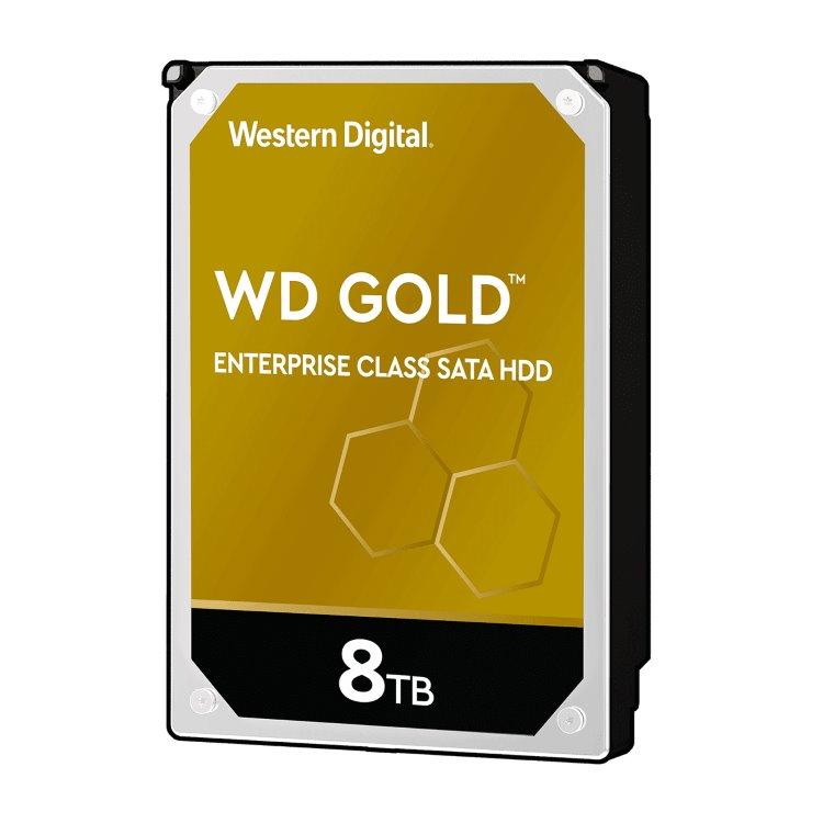 """Western Digital HDD Gold, 8TB, 256MB Cache, 7200 RPM, 3.5""""(WD8004FRYZ)"""