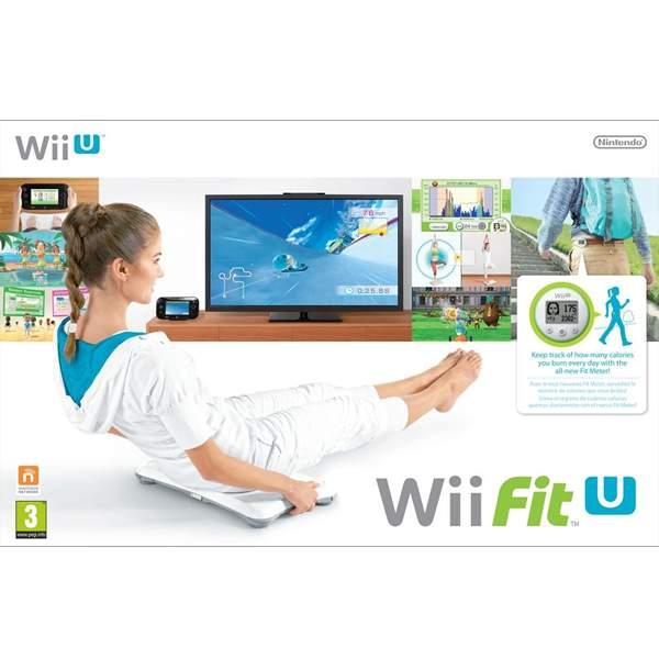 Wii Fit U Fit Meter, Green Wii Balance Board, White Wii U