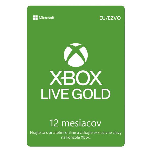 Xbox Live GOLD 12 měsíční předplatné CD-Key