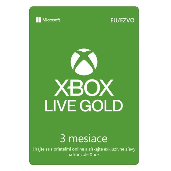 Xbox Live GOLD 3 měsíční předplatné CD-Key