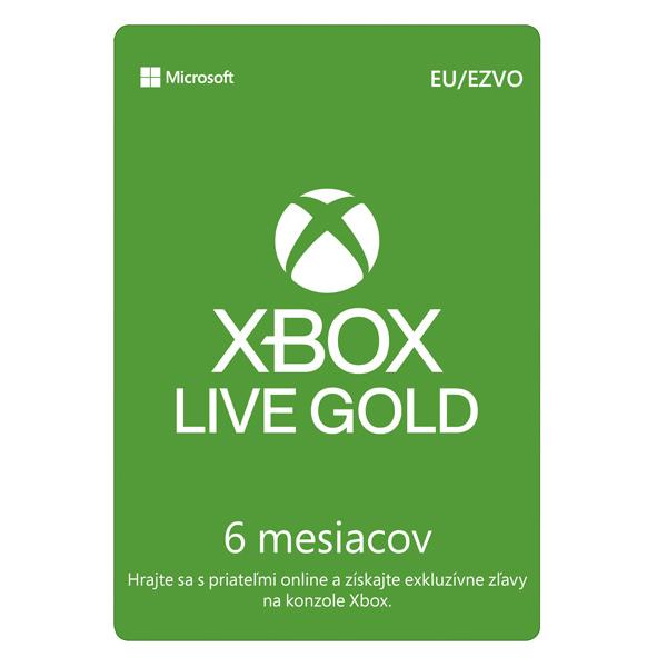 Xbox Live GOLD 6 měsíční předplatné CD-Key