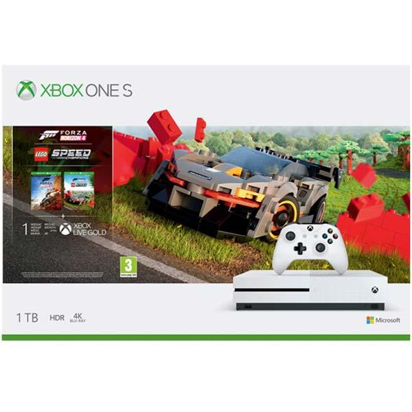 Xbox One S 1TB + Forza Horizon 4 CZ + Forza Horizon 4: LEGO Speed \u200b\u200bChampions
