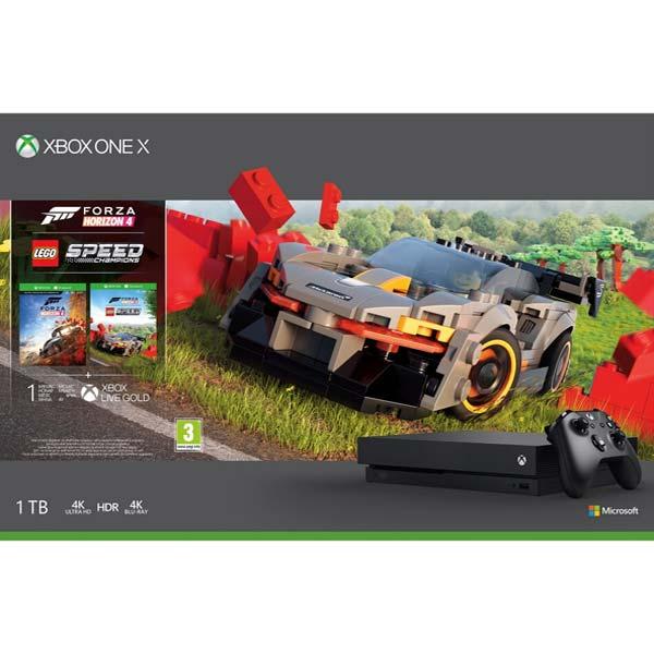 Xbox One X 1TB + Forza Horizon 4 CZ + Forza Horizon 4: LEGO Speed \u200b\u200bChampions