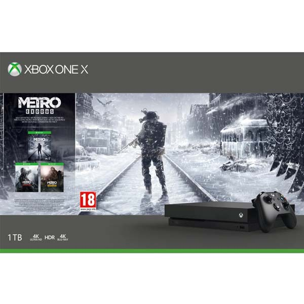 Xbox One X 1TB + Metro Exodus + Metro 2033 Redux + Metro: Last Light Redux
