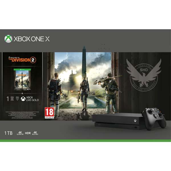 Xbox One X 1TB + Tom Clancys The Division 2 CZ