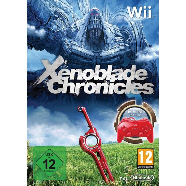 Xenoblade Chronicles + Classic Controller Pro, red Wii