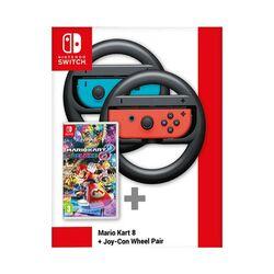 Mario Kart 8 Deluxe + Nintendo Joy-Con Wheel Pair