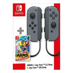 Nintendo Joy-Con (L), grey + Nintendo Joy-Con (R), grey + ARMS