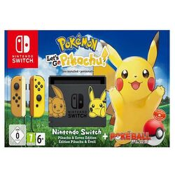 Nintendo Switch (Let 'Go Edition) + Let' Go, Pikachu!  + Pokéball Plus-OPENBOX (Rozbalené zboží s plnou zárukou)