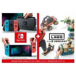 Nintendo Switch, neon + Nintendo Labo Vehicle Kit - OPENBOX (Rozbalený tovar s plnou zárukou)