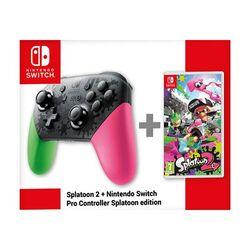 Nintendo Switch Pro Controller (Splatoon 2 Edition) + Splatoon 2