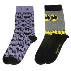 Ponožky DC Comic Batman Purple 37/41 (2-Pack)