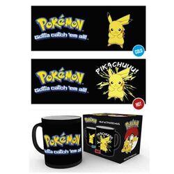 Šálka Pokemon Pikachu Heat Change Black