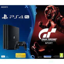 Sony PlayStation 4 Pro 1TB, jet black + Gran Turismo Sport CZ-OPENBOX (Rozbalené zboží s plnou zárukou)