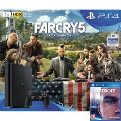 Sony PlayStation 4 Slim 1TB + Far Cry 5 CZ + Detroit: Become Human CZ