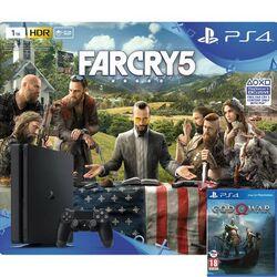 Sony PlayStation 4 Slim 1TB + Far Cry 5 CZ + God of War CZ