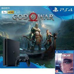 Sony PlayStation 4 Slim 1TB + God of War CZ + Detroit: Become Human CZ