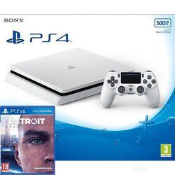 Sony PlayStation 4 Slim 500GB, ledovec white + Detroit: Become Human CZ
