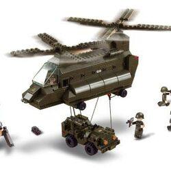 Stavebnica - Prepravný vrtulník (370 dielikov)