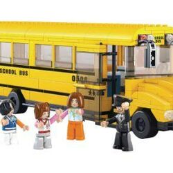 Stavebnice-Town-Školní autobus