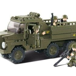 Stavebnica - Vojenské nákladné auto (229 dielikov)