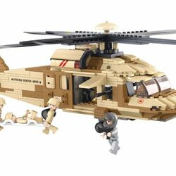 Stavebnice-Army-Zdravotnická vojenská helikoptéra