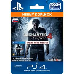 Uncharted 4: A Thief 's End CZ (SK Triple Pack Expansion) na supergamer.cz