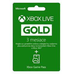 Xbox Live GOLD 3 měsíční předplatné + Xbox Game Pass na 1 měsíc
