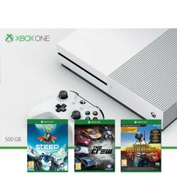 Xbox One S 500GB + Steep + The Crew + PlayerUnknown 's Battlegrounds (Game Preview Edition)