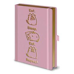 Zápisník Pusheen Premium Eat. Sleep. Eat. Repeat.